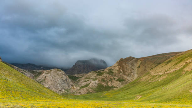 View of valley in cloudy day, Ulukisla, Turkey