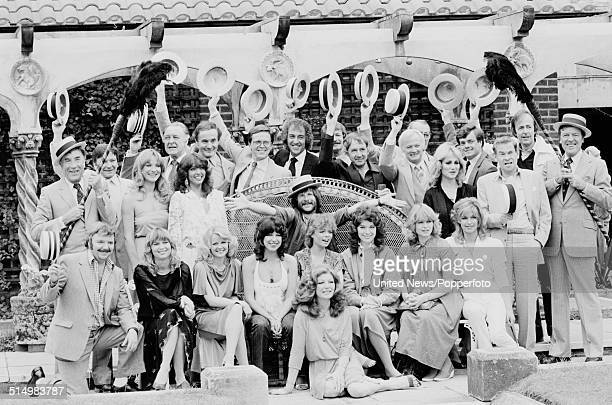 View of various actors and entertainers pictured together at a press call to promote the ITV autumn season of programmes in London on 15th July 1981...