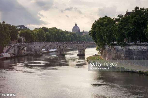 View of Vatican City from Ponte Sisto bridge