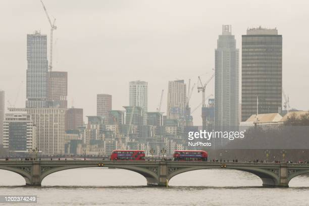 A view of Vauxhall area and the 'mini Manhattan' being planned for the Nine Elms area of Battersea On Saturday 25 January 2019 in London United...