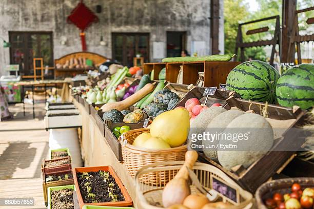 View Of Vegetables For Sale