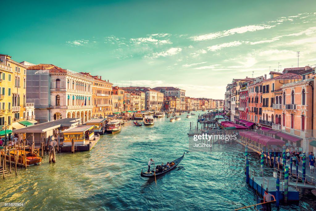 View of Venice's Grand Canal : Stock Photo
