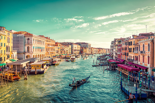 View of Venice's Grand Canal 911570904