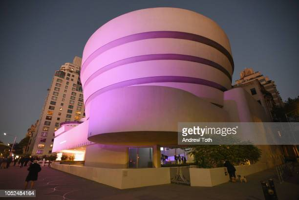 A view of venue exterior at the Hugo Boss Prize 2018 Artists Dinner at the Guggenheim Museum on October 18 2018 in New York City