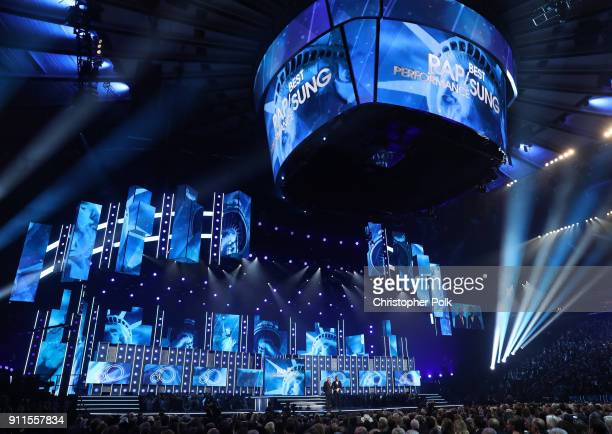 A view of venue interior during the 60th Annual GRAMMY Awards at Madison Square Garden on January 28 2018 in New York City