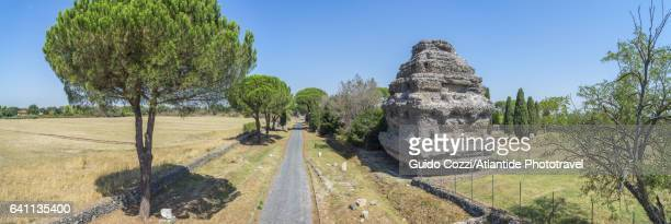 View of 'Via Appia' (Appian way), ancient roman road to southern Italy