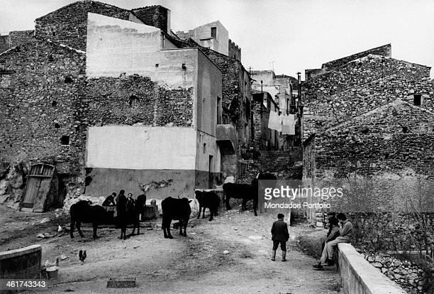 View of Vicolo della Torre and Vicolo Boccaccio in the village of Montelepre where in December 24th the Italian bandit Salvatore Giuliano attacked a...
