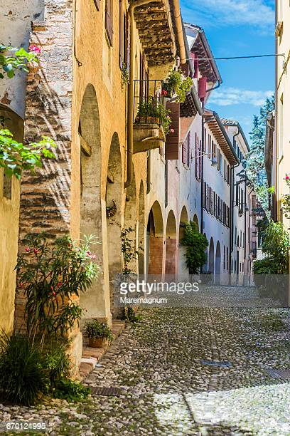 view of vicolo (alley) dotti - treviso italy stock pictures, royalty-free photos & images