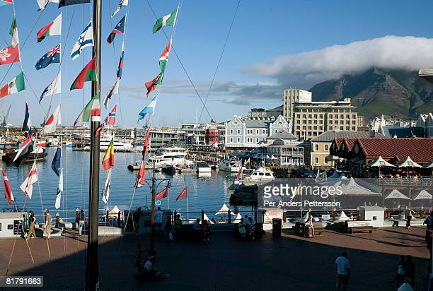 A view of Victoria Albert Waterfront and port area on February 22 2008 in Cape Town South Africa Victoria Albert Waterfront is one of the most...