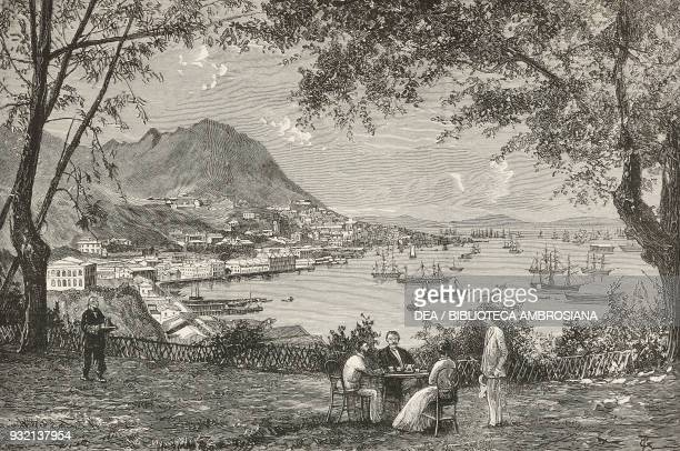 View of Victoria Hong Kong China illustration from The Graphic volume XXVIII no 731 December 1 1883