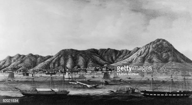 A view of Victoria in Hong Kong circa 1860