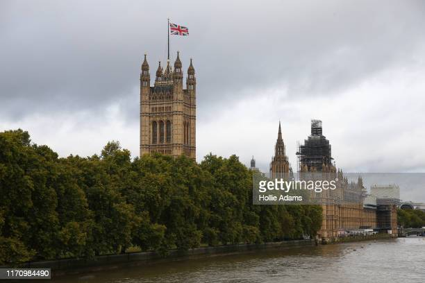 A view of Victoria Tower and the Palace of Westminster from Lambeth bridge on September 25 2019 in London England Yesterday the Supreme Court ruled...