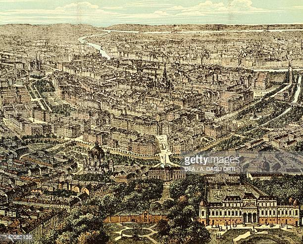 View of Vienna Austria 19th Century Print