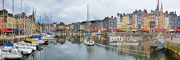 view of vieux bassin - calvados stock pictures, royalty-free photos & images