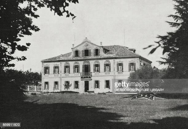View of Villa Giusti near Padua where the armistice was signed between Italy and AustriaHungary World War I from l'Illustrazione Italiana Year XLV No...