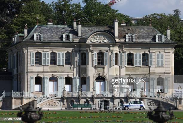 View of Villa La Grange, which is to host the upcoming summit between U.S. President Joe Biden and Russian President Vladimir Putin on June 14, 2021...