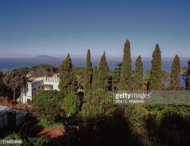 View of Villa San Michele previously owned by Axel Munthe Anacapri Capri Campania Italy