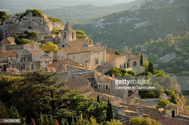 view of village - bouches du rhone stock pictures, royalty-free photos & images