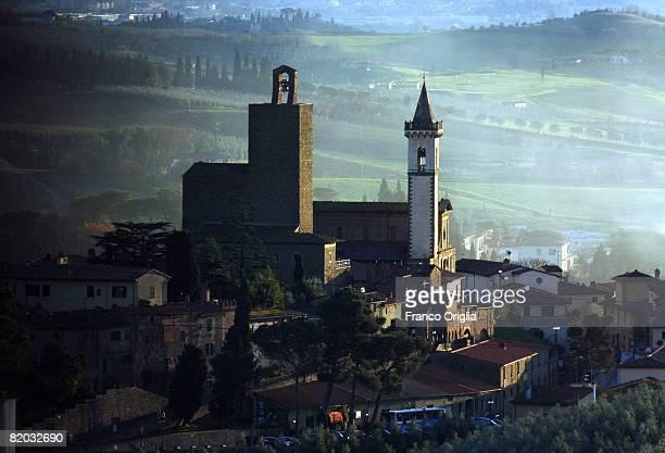 A view of Vinci hometown of artist Leonardo da Vinci in the Tuscany Chianty Hills on January 3 2008 in Vinci Italy