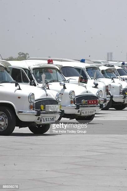 View of VIP Ambassador Car at Parliament House in New Delhi India