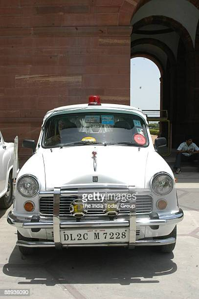 View of VIP Ambassador Car at Parliament House in New Delhi India