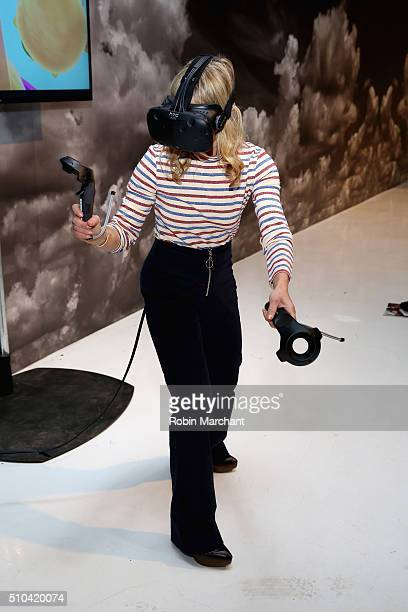 A view of Virtual Reality during Day 5 of New York Fashion Week The Shows at the Skylight at Clarkson Sq on February 15 2016 in New York City