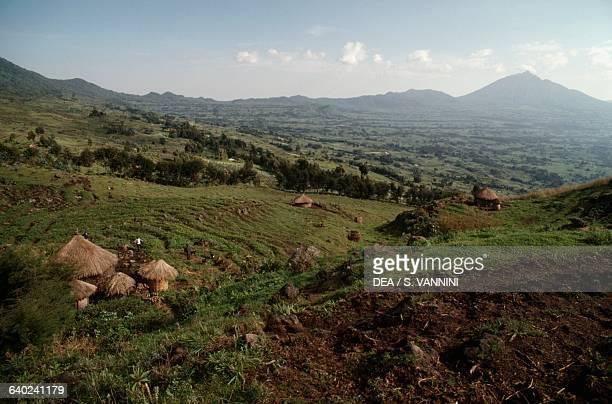 View of Volcanoes National Park Rwanda