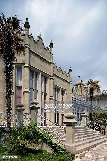View of Vorontsov Palace 18281846 designed by Edward Blore Alupka near Yalta Crimea Ukraine