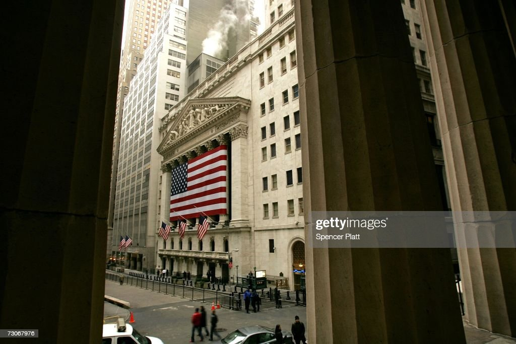 A view of Wall Street in the financial district January 22, 2007 in New York City. In a study commissioned by New York City Mayor Michael Bloomberg and U.S. Sen. Charles Schumer (D-NY), it was determined that New York could lose its place as the financial capital of the world in as little as 10 years.