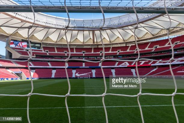 View of Wanda Metropolitano stadium during an open doors media day ahead of the 2019 UEFA Champions League Final The final match will be played at...