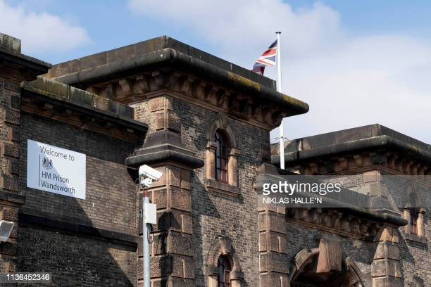 A view of Wandsworth prison in southwest London where WikiLeaks founder Julian Assange is believed to be held according to media reports on April 12...