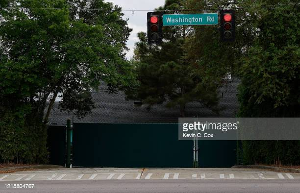 A view of Washington Road next to Augusta National on March 30 2020 in Augusta Georgia The Masters Tournament the Augusta National Women's Amateur...