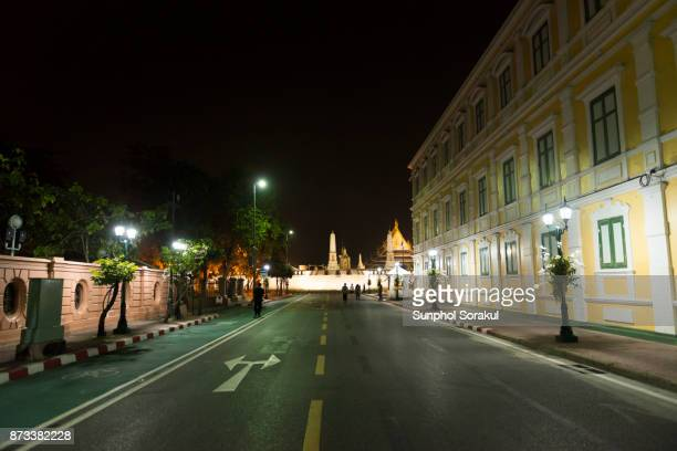 A view of Wat Phra Kaew and the Ministry of Defence