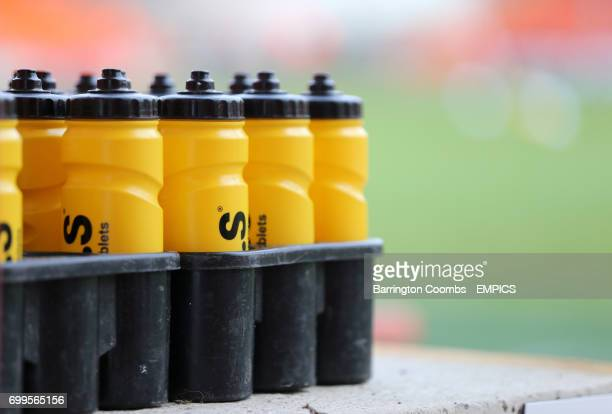 A view of water bottles at Bloomfield Road