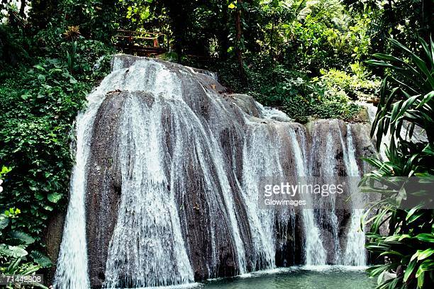 View of water gushing at Dunn's Falls, Jamaica
