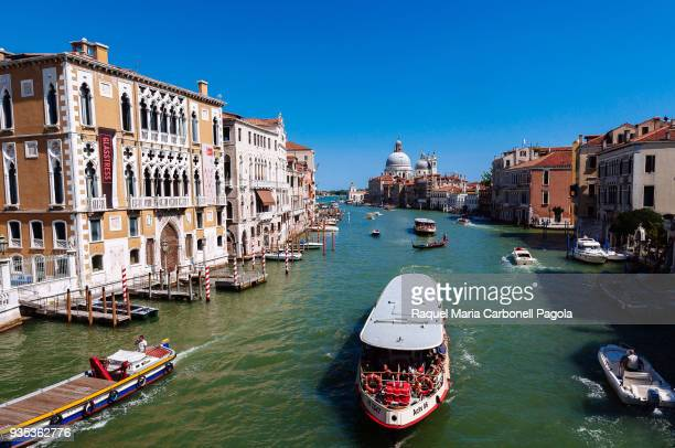 View of watercrafts on the Grand Canal from Ponte dell'Accademia.