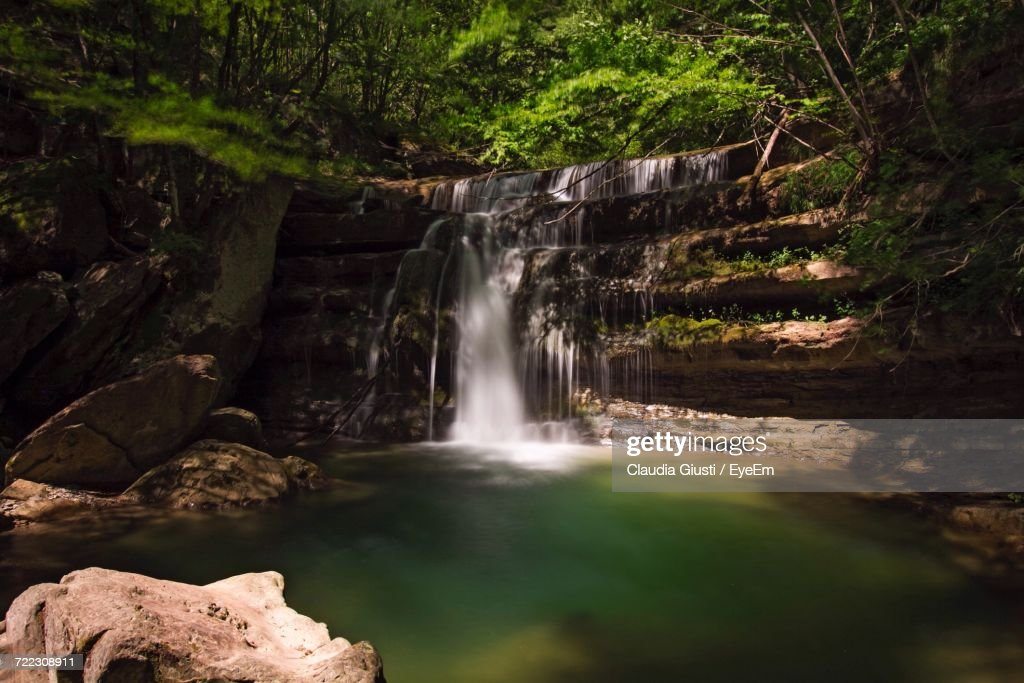 View Of Waterfall In Forest : Foto stock