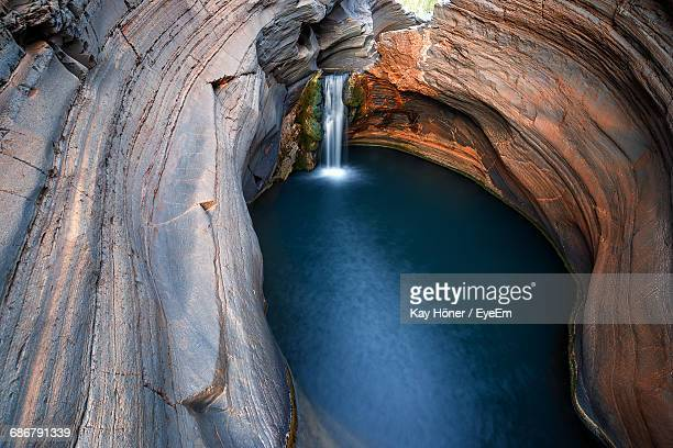 View Of Waterfall In Karijini Nationalpark, Australia