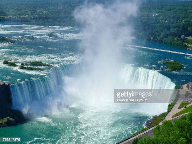 view of waterfall - niagara falls stock pictures, royalty-free photos & images