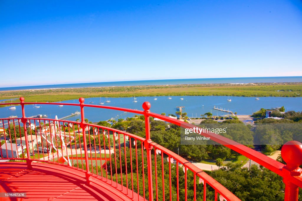View of waterways from up high in St. Augustine : Stock Photo