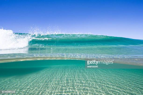 View of waves on sunny day