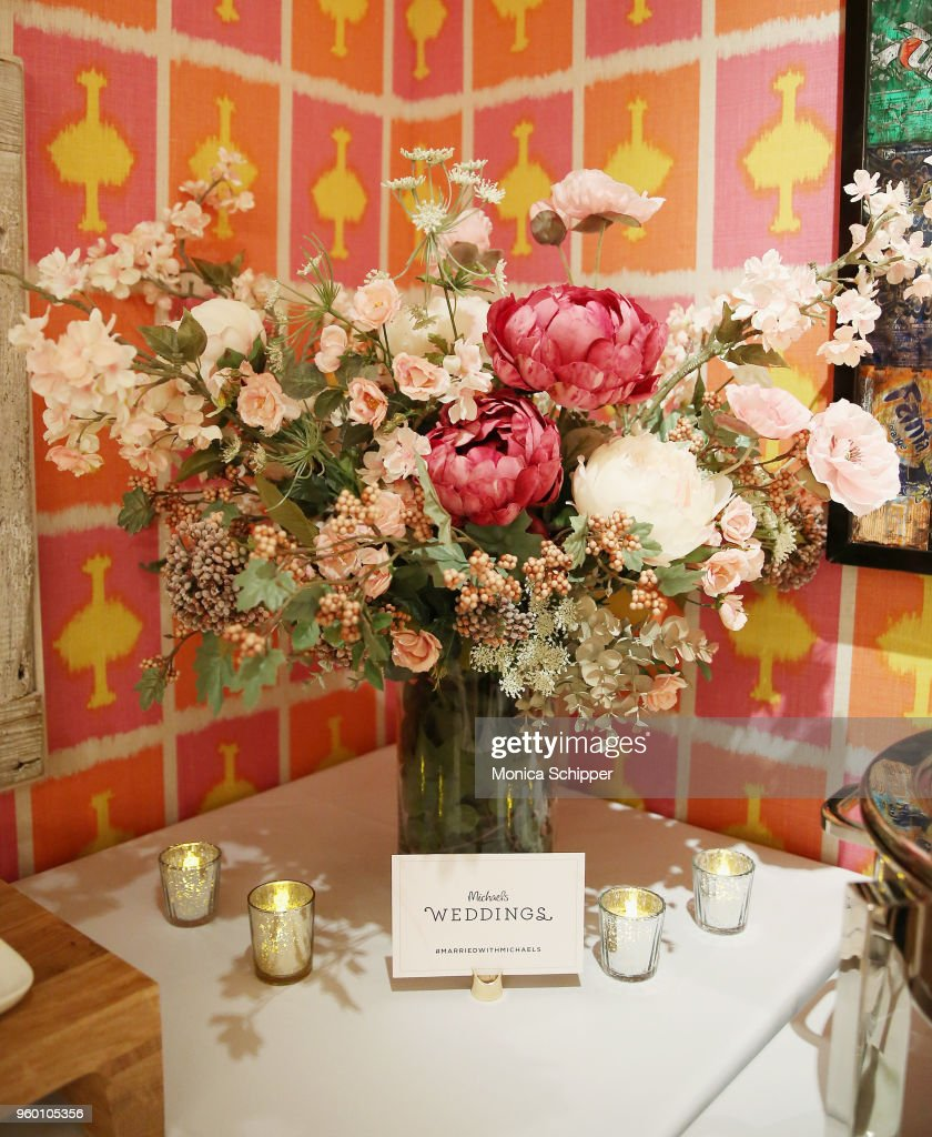 A View Of Wedding Bouquet During The Michaels Weddings