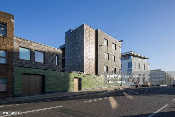 View of West facade looking North. Ladbroke Grove housing project, Ladbroke Grove, United Kingdom. Architect: Child Graddon Lewis , 2018.