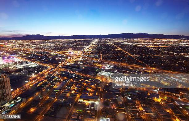 View of West Las Vegas at dusk
