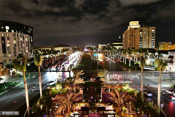 A view of West Palm Beach from the private opening celebration of RH West Palm on November 18 2017 in West Palm Beach Florida