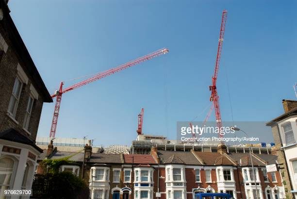 View of Westfield Shopping Centre under construction from Bulwer Street Shepherds Bush West London UK