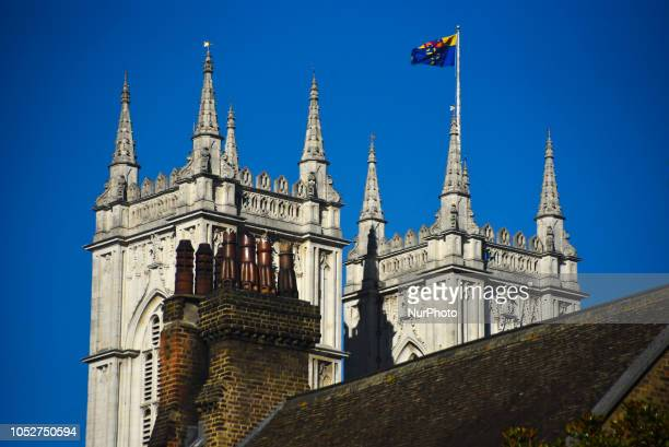 View of Westminster Abbey London on October 22 2018