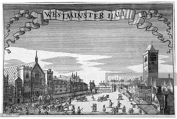 View of Westminster Hall and New Palace Yard London c1648