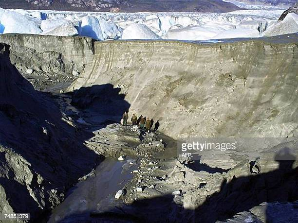View of what used to be the bottom of a glacial lake in the Magallanes region, 2000 km south of Santiago, Chile on June 4th, 2007. Until two months...