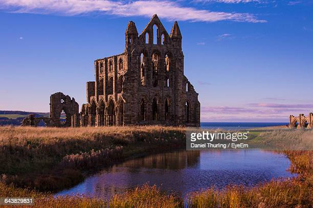 View Of Whitby Abbey Against Sky